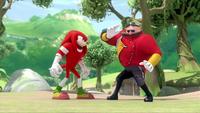 SB S1E10 Knuckles vs Eggman