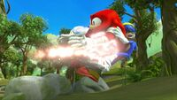S1E44 Knuckles Sonic blasted