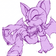 Sonic Channel wallpaper Rouge 1