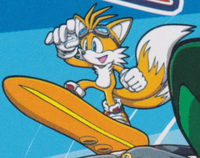 Sonic Riders art 2D promo Tails