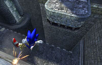 Wall Climb Sonic and the Black Knight