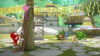 SB S1E38 Team Sonic village decorations