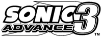 Sonic Advance 3 EN logo B&W