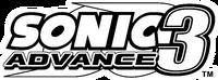 Sonic Advance 3 EN logo B&W