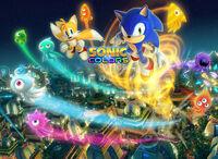 Sonic Colors Sega website background