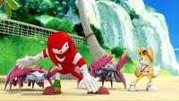 SB S1E19 Knuckles Tails vs Crab Bots