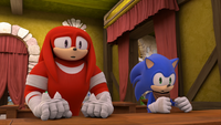 S1E17 Knuckles Sonic agasp