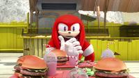 SB S1E23 Knuckles Meh Burger