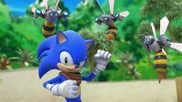 S1E04 Sonic fight bee bots