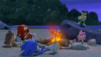 S1E14 Team Sonic campfire
