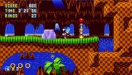 Sonic Mania Green Hill bajo tierra