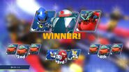 Death Egg on the winner screen
