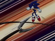 Sonic dodges claws