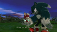 Sonic i Chip first meet