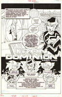 Sonic the Hedgehog -208 - Iron Dominion, p. 1, original art, title splash - First edition - (2010)