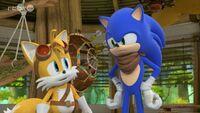 SB S1E39 Tails Sonic shack