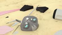 Bea's head on the ground