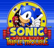 Triple Trouble title screen