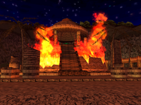 Altar in fire
