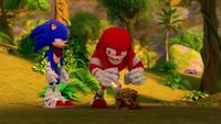 SB S1E25 Sonic help Knuckles