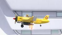 SB S1E07 Tails Plane hovering