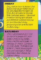 Sonic's Diary fri-sat