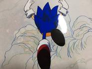 Sonic CD animation cel 1
