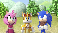 SB S1E13 Sonic Amy and Tails
