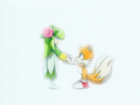 Tails' and Cosmo's reunion (6) Sonic X Episode 77