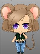 Editta the Mouse (Chibi Human Version)