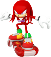 Sonic Riders Velocity Knuckles Artwork