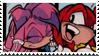 Knuckles x Julie Su Stamp by neoncat