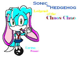 Sonic the Hedgehog; Ledgend of the Chaos Chao; Karina Prower