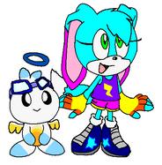 Karina and Hero Chao from Sonic Free Riders