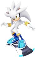 Sonic Riders Velocity Silver Artwork