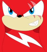Crimson's evil grin