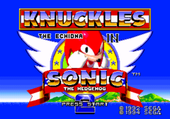 Schermo del titolo Screenshot - Knuckles the Echidna in Sonic the Hedgehog 2.png