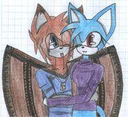 Natasha and Köter hug