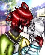 Kinay and winry kiss