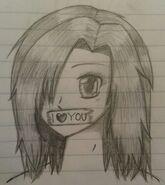 I love you Anime girl