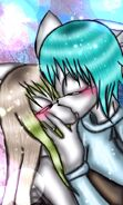 Erina and runshi kiss
