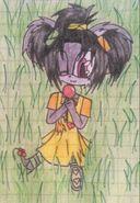 Saphrina with lollipop