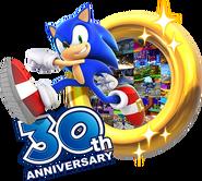 Sonic 30th 3D logo full