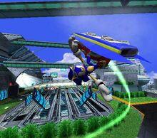 Sonic faisant un tour dans Metal City.JPG