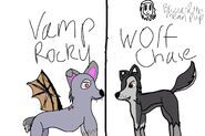 Wolf Chase and Vamp Rocky