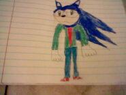 Young Sonic in school uniform