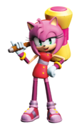 Amy's look in Sonic Boom