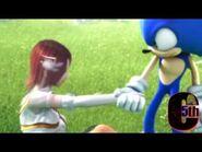 Sonic pulling Elise up