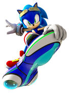 Sonic in Riders outfit