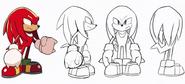 TSRO Knuckles Concept Art